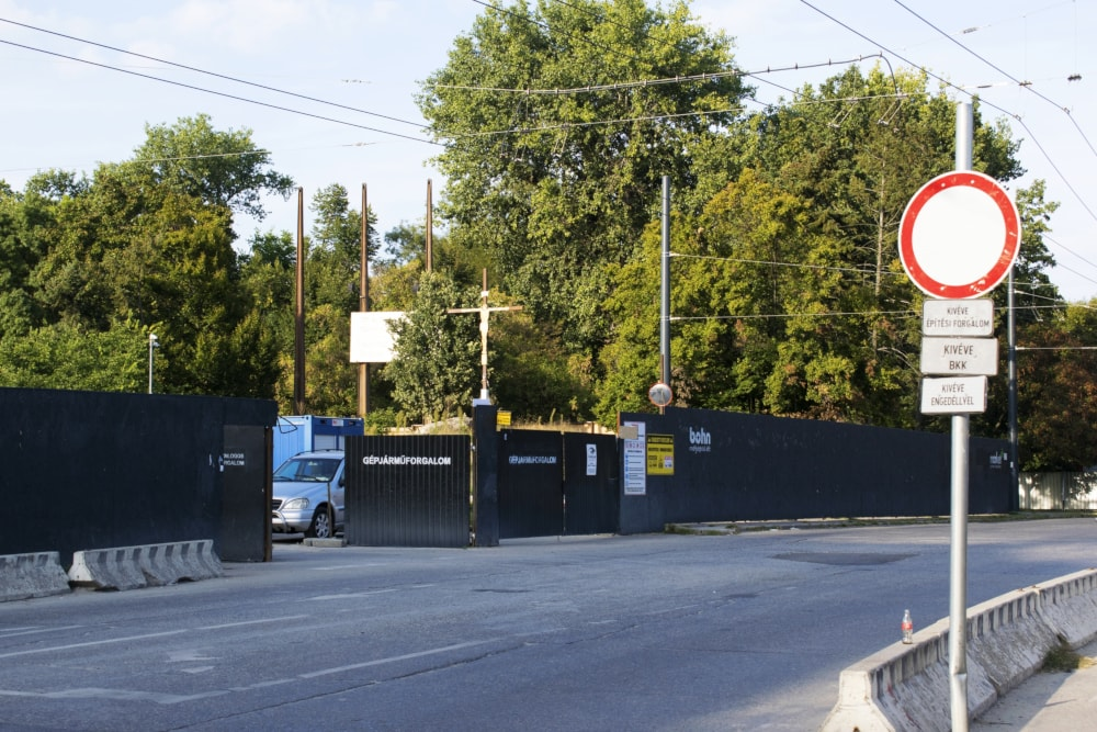 A Regnum helyszíne jelenleg építési terület (2018. szeptember)