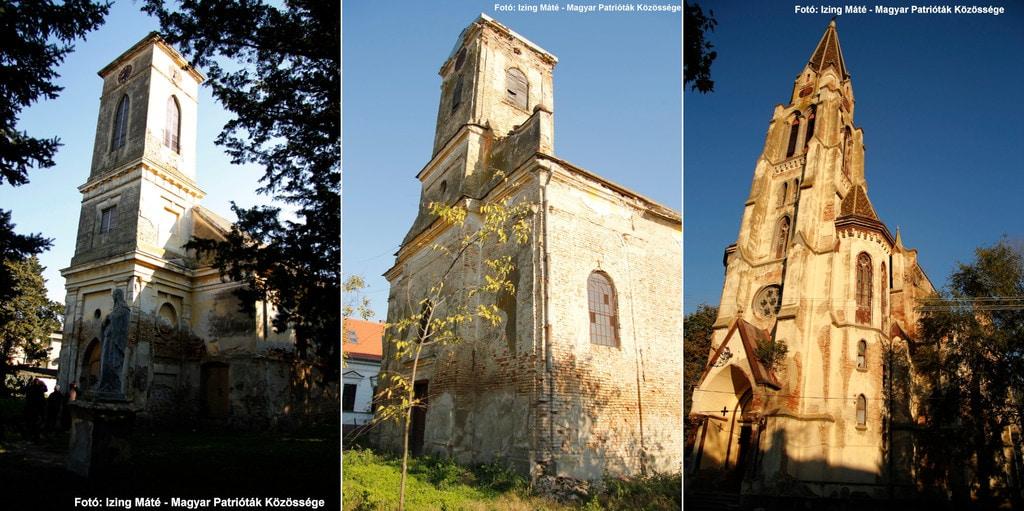 A három legismertebb templom: Németcsernye, Párdány és Módos